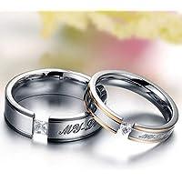 طقم خواتم للازواج مع عبارة My Lover من التيتانيوم والستيل، مرصع بالالماس، مناسب لهدايا الذكرى السنوية والزفاف، للرجال…