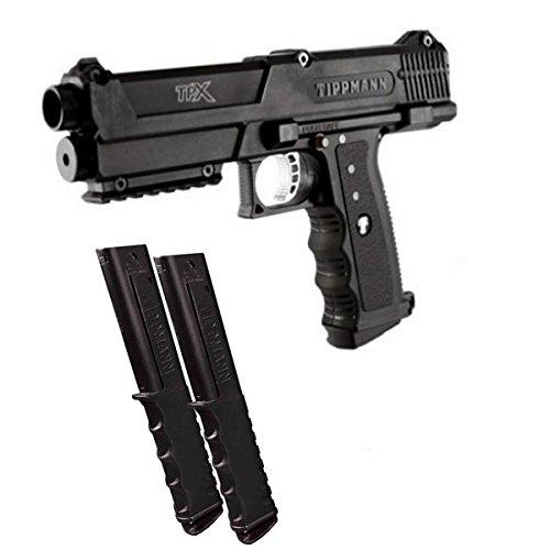 Tippmann TiPX Paintball Pistol Marker Gun - Black w/ 12rd Mag 2-Pack ()