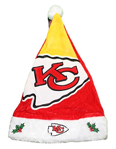 - Forever Collectibles Kansas City Chiefs 2018 NFL Basic Logo Plush Christmas Santa Hat