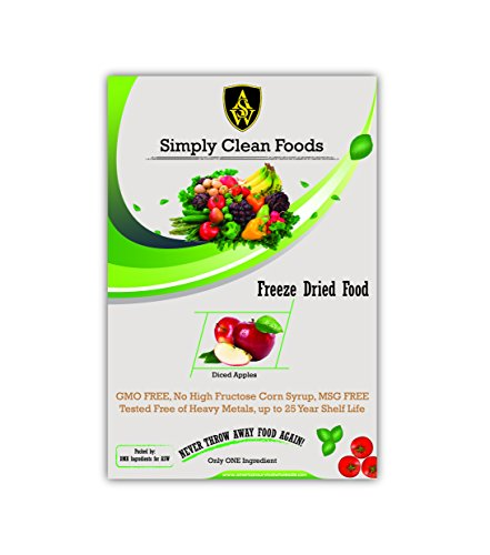 - Simply Clean Foods Freeze Dried Apple Dices - 12 Servings
