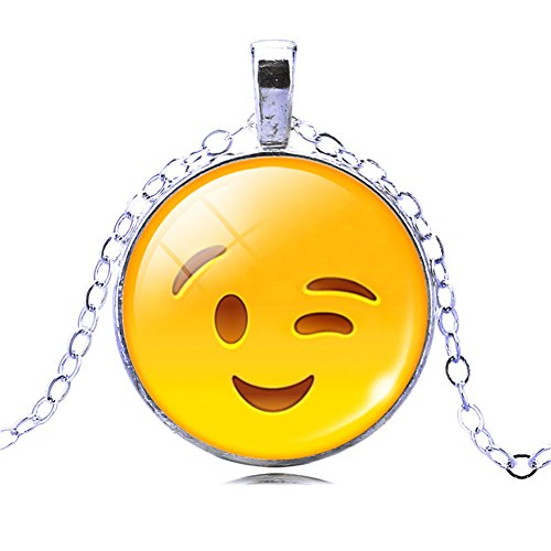 [ZhiDa Emoji Pendant with Chain Cute Necklace for women Kids Girls] (Gumball Machine Costume For Kids)