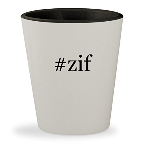 Price comparison product image #zif - Hashtag White Outer & Black Inner Ceramic 1.5oz Shot Glass