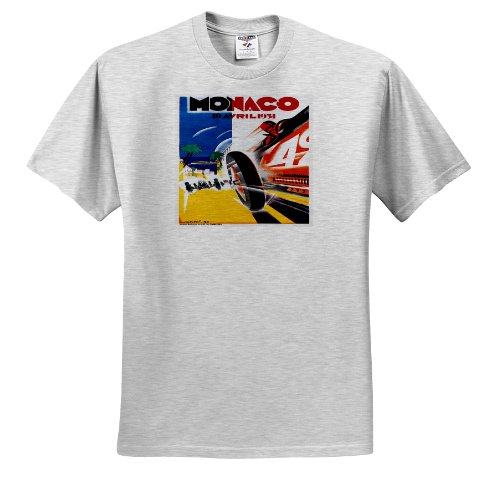fan products of BLN Vintage Automobiles and Racing - Vintage Monaco Automobile Race Advertising Poster - T-Shirts - Youth Birch-Gray-T-Shirt Small(6-8) (ts_130224_28)