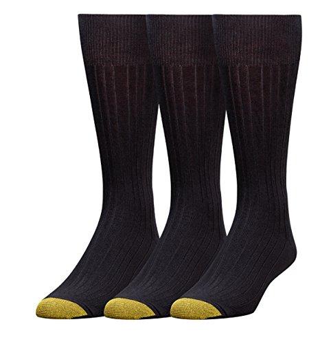 Gold Toe Men's Milan 6 Pack Dress Sock, Black, 10-13 (Gold Toe Rayon)