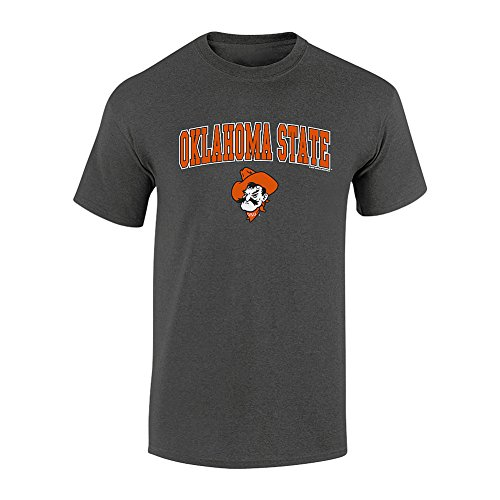 Elite Fan Shop Oklahoma State Cowboys TShirt Charcoal - (Oklahoma State Cowboys University Fan)