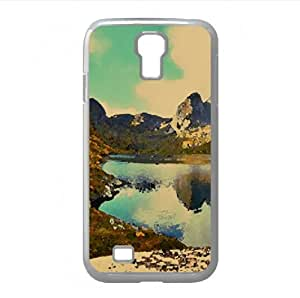 Glacial Lake Autumn Watercolor style Cover Samsung Galaxy S4 I9500 Case (Lakes Watercolor style Cover Samsung Galaxy S4 I9500 Case)