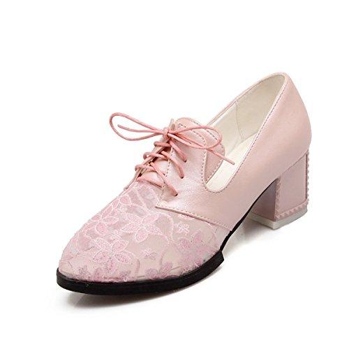 de Para Cordones de Rosa Material Mujer Sintético DoraTasia Zapatos Sxq1AFw1p