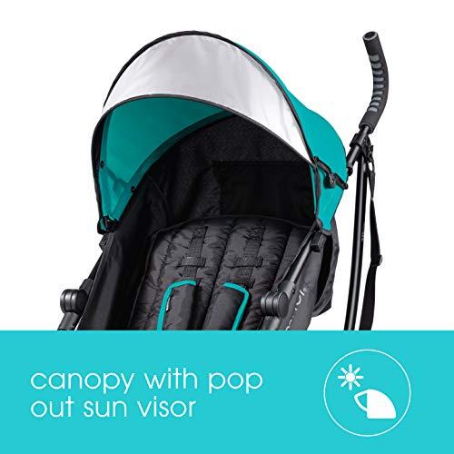 41op3bU9NaL - Summer 3Dlite Convenience Stroller, Teal – Lightweight Stroller With Aluminum Frame, Large Seat Area, 4 Position Recline, Extra Large Storage Basket – Infant Stroller For Travel And More
