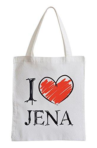Amo Jena Fun sacchetto di iuta