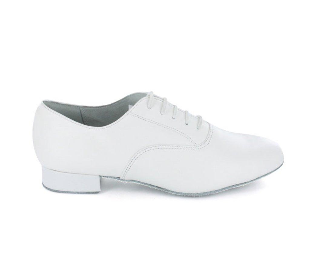 TDA Men's JF250509 Comfort Standard White Leather Ballroom Latin Dance Shoes 11 M US