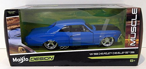 Chevrolet 1966 Chevelle SS 396 Blue Classic Muscle 1/24 by Maisto 31333 ()