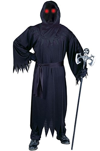 Fun World Men's Adult Fade in and Out Phantom Costume, Black, (Fade In Fade Out Phantom Costume)