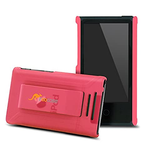 rooCase S1-TM Ultra Slim Translucent Matte Shell Case for Apple iPod Nano 7 (7th Generation), Pink (Ipod Nano Cases With Clip)