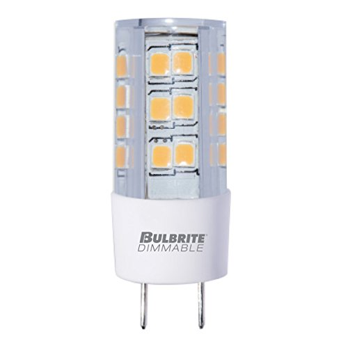 BULBRITE LED T4 BI-PIN (GY8) 4.5W DIMMABLE LIGHT BULB 3000K/SOFT WHITE 35 INCANDESCENT EQUIVALENT (Pack of 2)