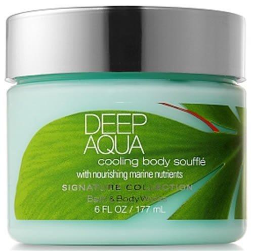 Bath & Body Works Signature Collection Cooling Body Soufflé Deep Aqua
