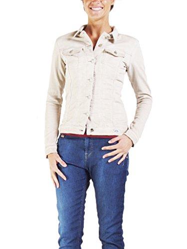Extensible Taille Carrera Unie Jeans Style Slim Manche Couleur Pour Longue Femme Tissu Blouson 451 Beige 162 Western xvPx8