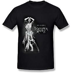 SP Jennifer Lopez All I Have Tour Cotton T Shirt For Men Black L