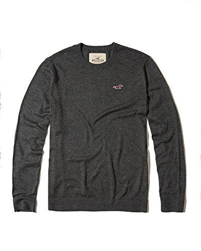 Hollister Mens Icon Sweater Top  Grey Crew Neck  L