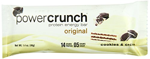 Bio Protein Bar Cookies (Power Crunch Bar, Cookies and Cream, 1.4 Ounce)