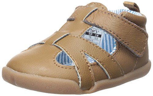 Carter's Every Step Stage 2 Boy's Standing Shoe, Bristol (Infant/Toddler), Light Brown, 3.5 M US Toddler (Baby Boy Shoes Clearance)
