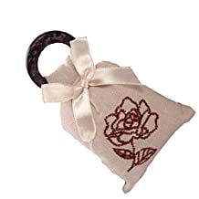 """Set of 4 Lovely 2""""x4"""" Sachets Filled with Rose Fragrance"""
