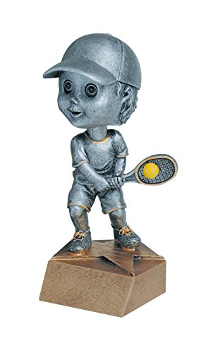 Bobble Head Award (Male Tennis Bobble head Trophy Award - Engraved Plate Upon Request - Decade Awards)