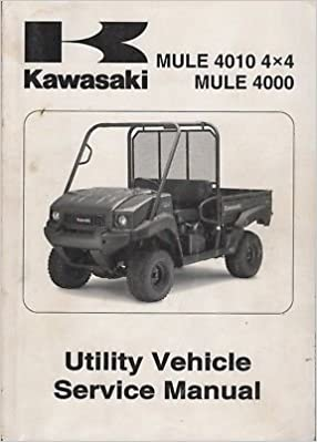 2009 KAWASAKI ATV MULE 4010 4X4, MULE 4000 SERVICE MANUAL 99924-1406-01  (688): KAWASAKI: Amazon.com: BooksAmazon.com