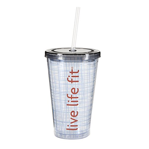 Fitlosophy 'Live Life Fit' Insulated Tumbler Cup with Lid, 16 oz