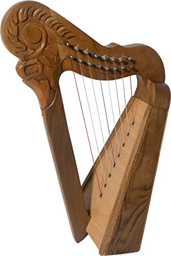 Roosebeck 8-String Perisian Style Harp - Walnut Wood by Roosebeck
