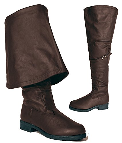 Pirates of the Caribbean Assassin's Creed Western Steampunk Cosplay Renaissance Faire Men's Boots (Mens Renaissance Boots)