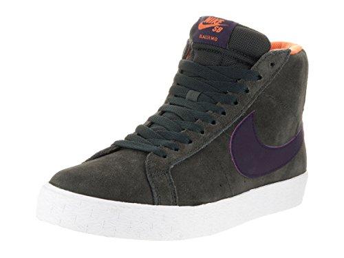 Nike Mens Blazer Sb Premium Se Anthracite/purple Dynasty Skate Shoe (10)
