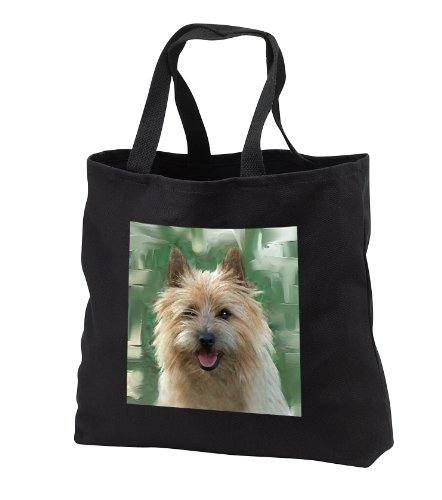 Dogs Cairn Terrier - Cairn Terrier - Tote Bags - Black Tote Bag 14w x 14h x 3d (tb_4016_1)