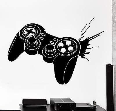 Wall Decal Gaming Joystick Joypad Laptop Video Gamer Vinyl Decal Sticker 1801dz