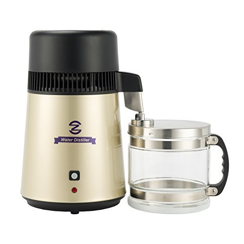 CO-Z Stainless Steel Water Distiller, FDA Approved Distilling Pure Water Machine for Countertop...