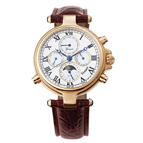Stauer Men's Automatic Gold-Finished Graves '33 Wristwatch