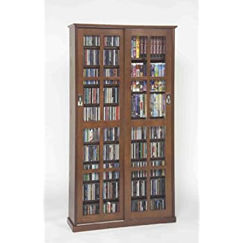 Delightful Leslie Dame MS 700W Mission Multimedia DVD/CD Storage Cabinet With Sliding  Glass Doors