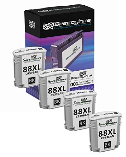 (Speedy Inks Remanufactured Ink Cartridge Replacement for HP 88XL C9396AN High Yield (Black, 4-Pack))