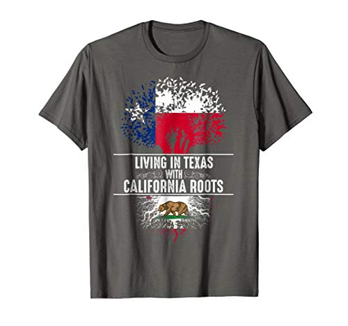 (Texas Home California Roots State Tree Flag Shirt Love Gift)