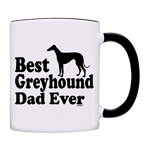 owndis Best Greyhound Dad Ever Gift Coffee Mug-0089-Black