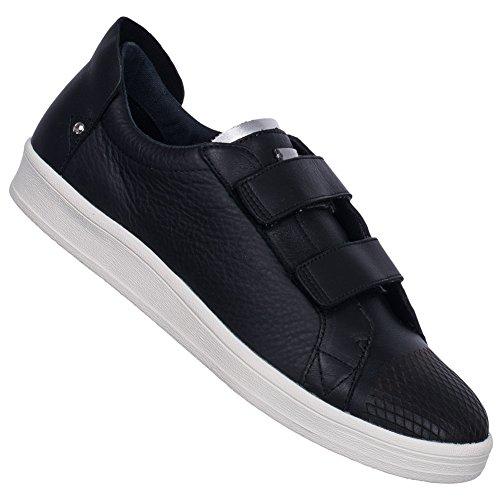 Adidas SLVR concave en velcro formateurs en cuir pour homme–Noir