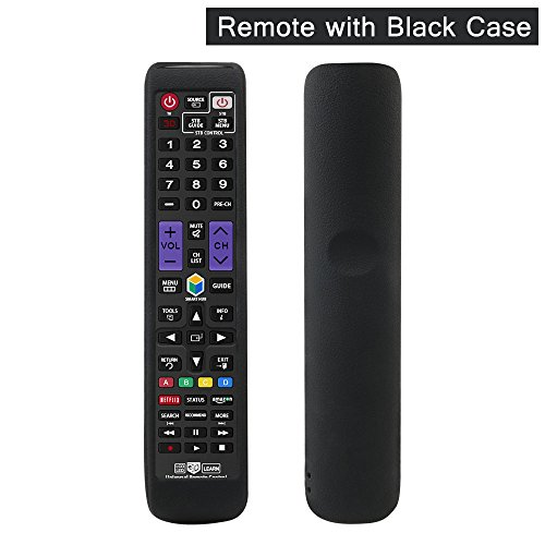 Gvirtue Universal Remote Control GSM-22 Compatible Replacement for Samsung TV, fit for AA59-00666A AA59-00784C BN59-01199F BN59-01178W BN59-01199F AA59-00594A AA59-00582A (SM-22 with Black Case)