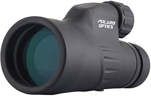 Polaris Optics Explorer High Powered 12X50 Monocular - Bright and Clear - Single Hand Focus - Waterproof, Fogproof - For Bird Watching, or Wildlife - Tripod For Hands Free Viewing - Daytime Use