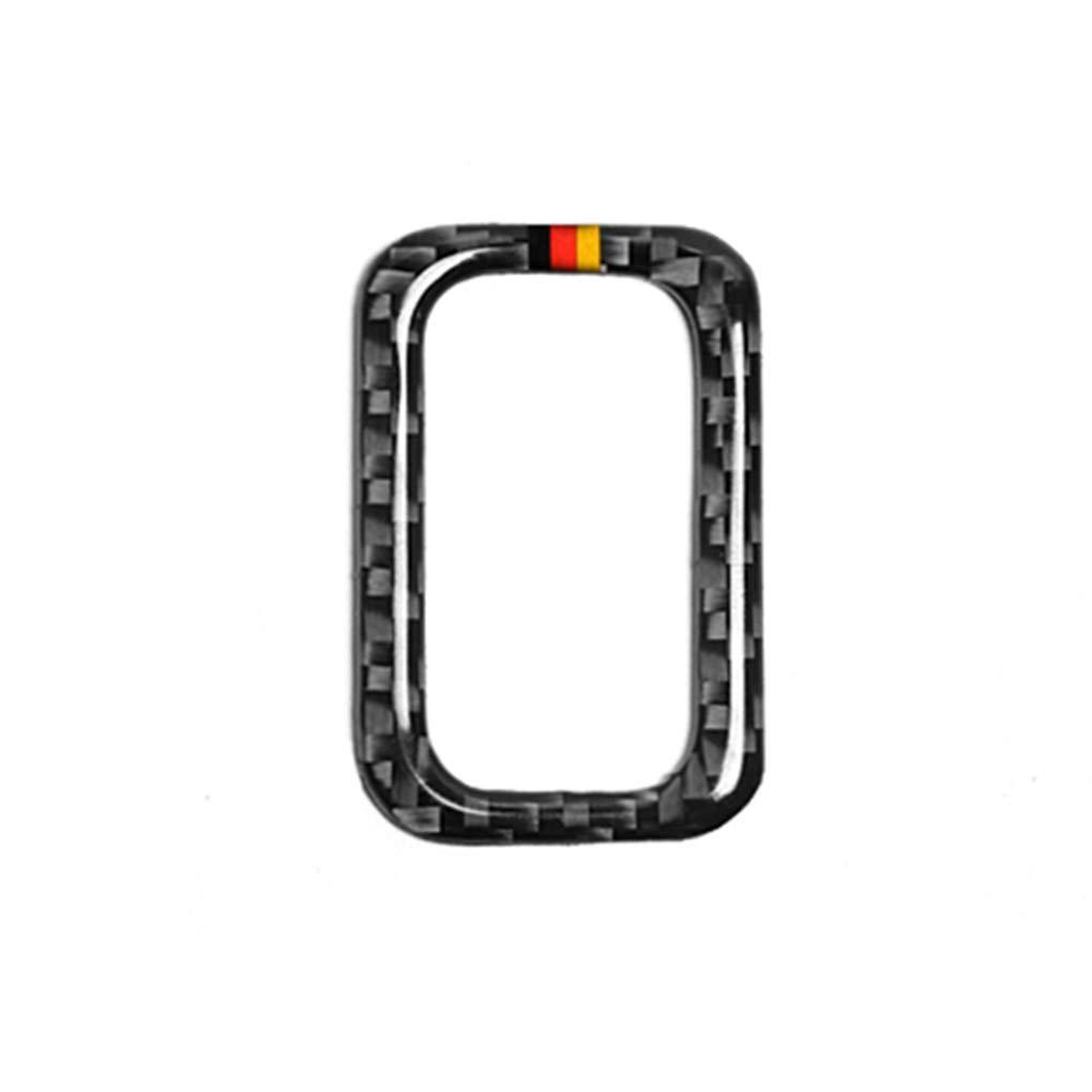 Lorjoy Fibra del Carbonio dell'automobile Baule Posteriore di Controllo Interruttore Adesivi Pulsante Fotogramma per Mercedes Classe C C200 / GLC
