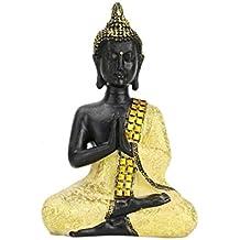 Buorsa 6 inch Tall Mini Resin Buddhist Thai Buddha Meditating Peace Harmony Statue Religious Figurine Memorable Sculpture