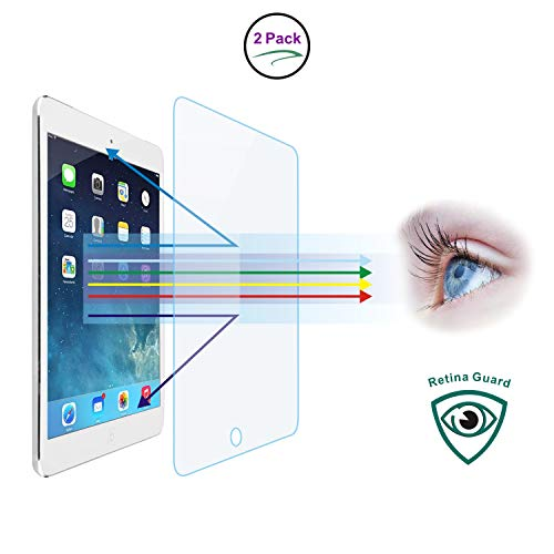 Entwth Full Screen Anti Blue Light Tempered Glass Protector[2 Packs] for iPad Air 3 & iPad Pro 10.5