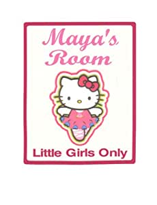 Amazon.com: hello kitty Little Girls cartel para puerta de ...