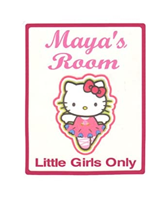 Amazon.com: hello kitty Little Girls cartel para puerta de ...