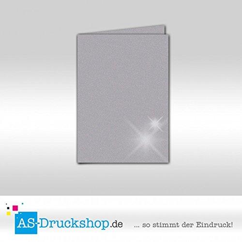 Faltkarte Doppelkarte - Turmalin - mit glänzenden Partikeln 100 Stück DIN B6 B0794ZBXQ5 | Feine Verarbeitung