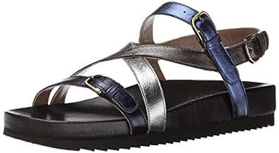 Anyi Lu Women's Vera Huarache Sandal, Ocean, 36.5 EU/6.5 B US