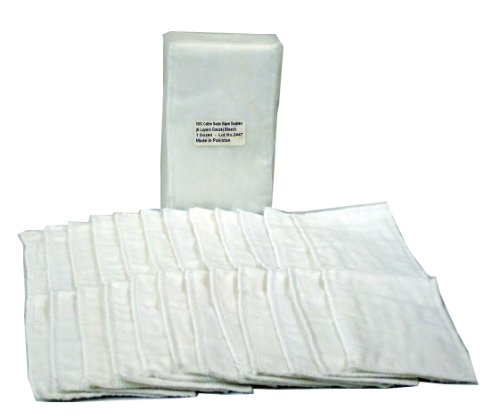 OsoCozy Gauze Diaper Bleached Doublers - Hemp Prefold Diapers